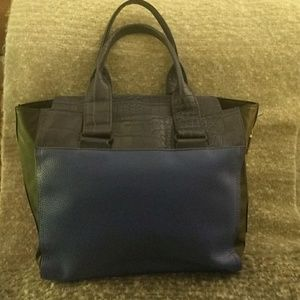 Two toned leather French Connection handbag